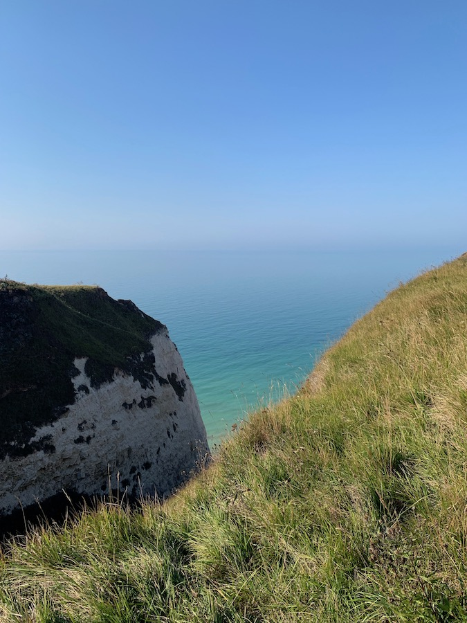 Steep cliffs in Upper Normandy