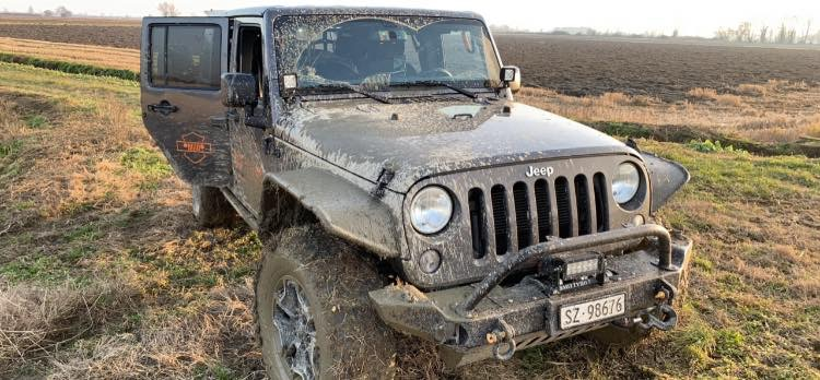 Wrangler Stuck in the Mud