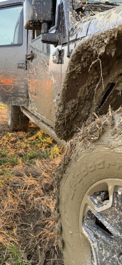 Natural colors of a Jeep, Wrangler Stuck in the Mud