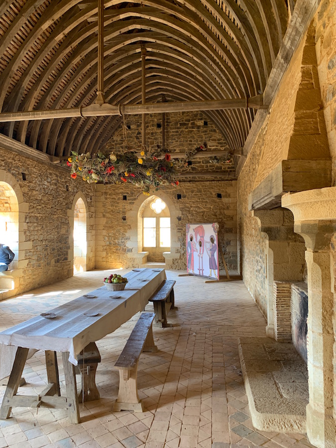 the main hall of the Castle of Guédelon