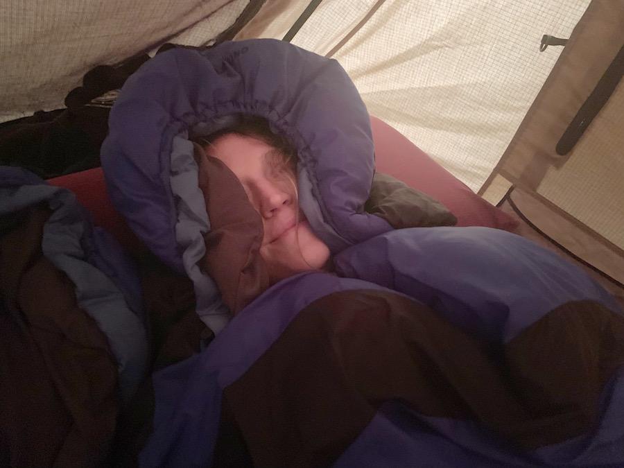 Die Nacht war wieder richtig kalt und die Entscheidung steht fest: Neue Schlafsäcke müssen definitiv her.