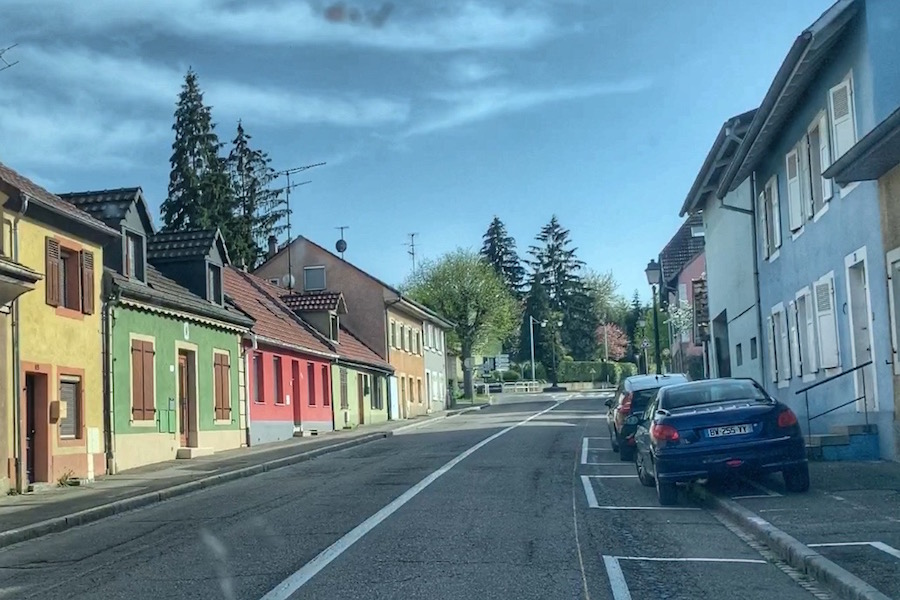 Colorful houses in Altkirch