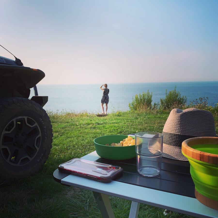 Schönster Campingplatz in Trouville-sur-Mer, le Chant des Oiseaux, pure Meeressicht
