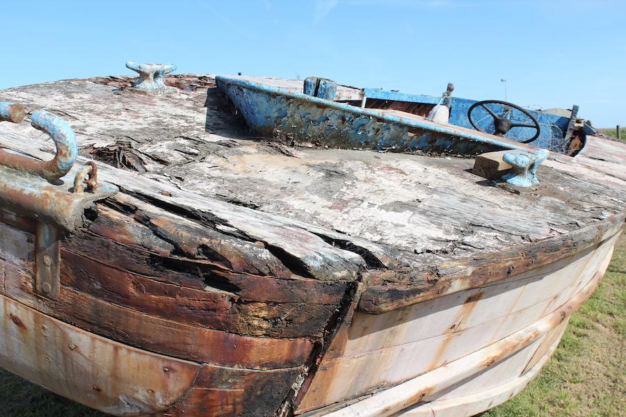 Landungsboot der Alliierten beim Overlord Museum in Vierville-sur-Mer