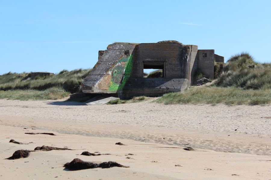 Entlang der Küste der Normandie