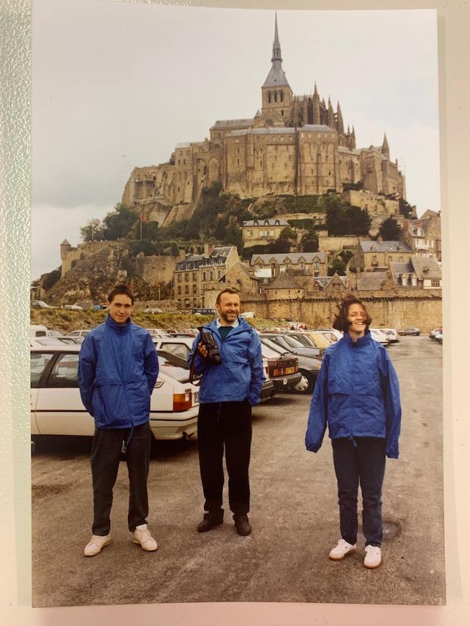 Der Mont Saint-Michel mit Parkplatz 1992