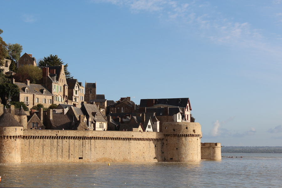 Mont-Saint-Michel im Meer