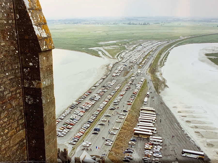 Parking lot in front of Mont Saint-Michel in 1992