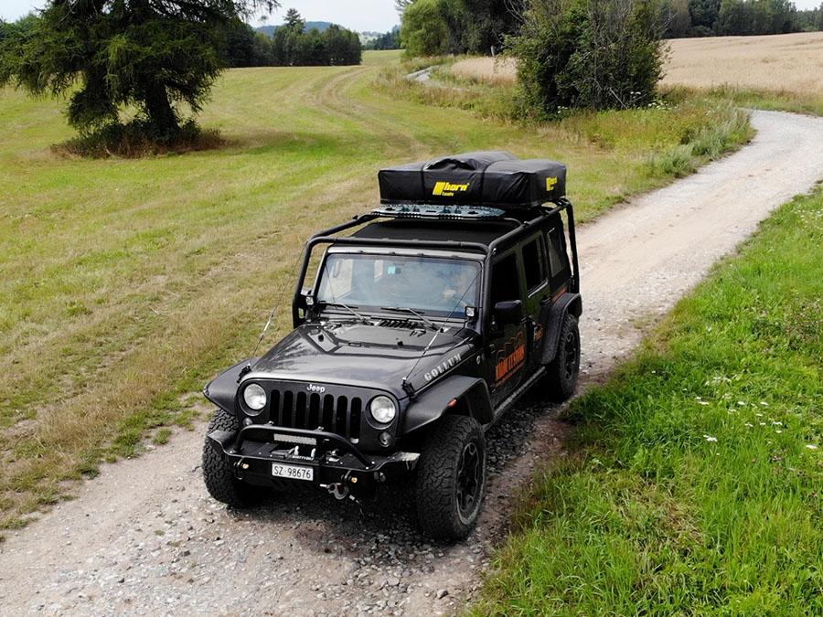 Jeep Wrangler, Drohnenaufnahme