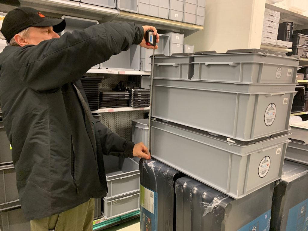 Measuring the RAKO Boxes in the Store