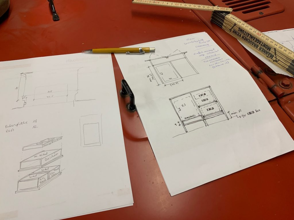 Sketching before we draw it with CAD
