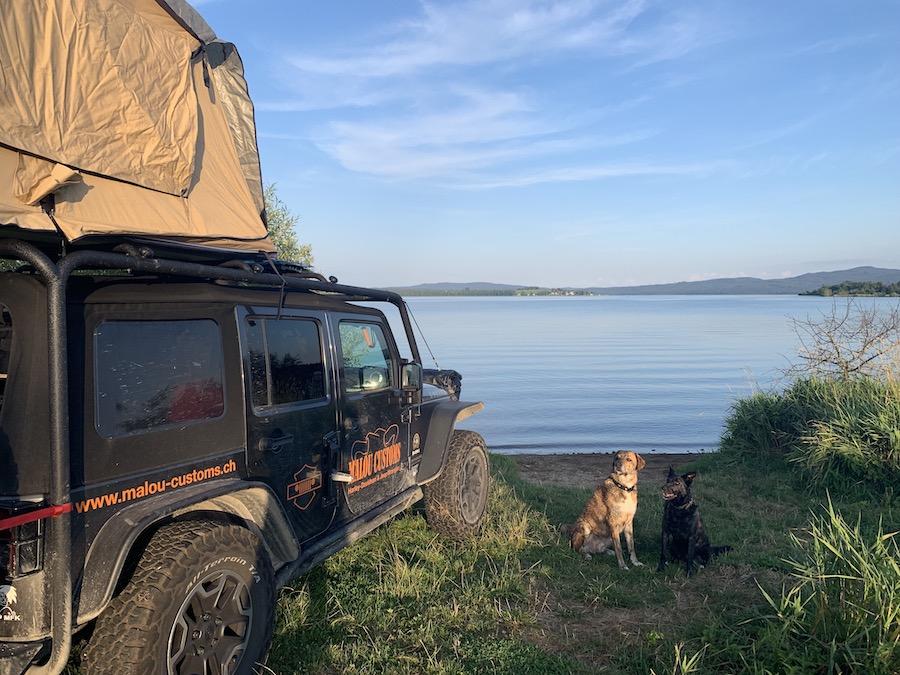 Lipno Reservoir, best camping spot ever... Overlanding Southern Bohemia - Czech Republic